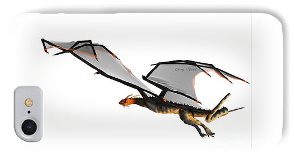 Blue Wasp Dragon Flight IPhone Case