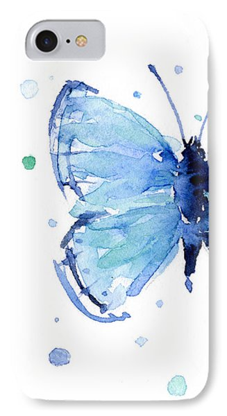 Blue Watercolor Butterfly IPhone 7 Case