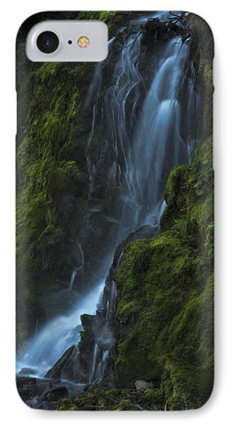 IPhone 7 Case featuring the photograph Blue Waterfall by Yulia Kazansky