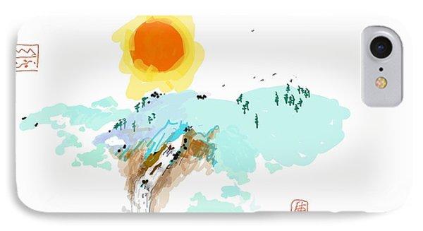 Blue Waterfalll IPhone Case by Debbi Saccomanno Chan