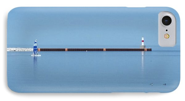 Blue Waters Sailing IPhone Case by Wendy Shoults