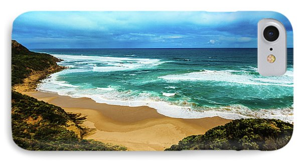 IPhone Case featuring the photograph Blue Wave Beach by Perry Webster