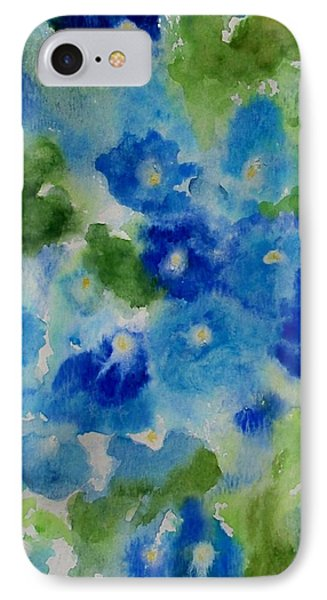 Blue Wet On Wet Phone Case by Jamie Frier