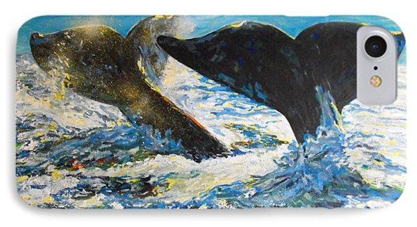 Blue Whales IPhone Case by Koro Arandia