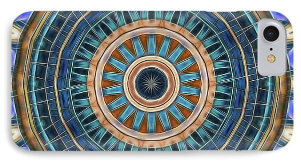IPhone Case featuring the digital art Blue Wheeler 2 by Wendy J St Christopher