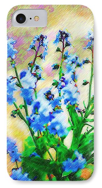 IPhone Case featuring the photograph Blue Wildflowers by Donna Bentley