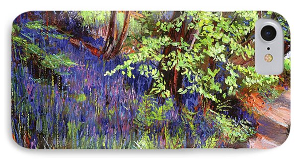 Blue Wildflowers Pathway IPhone Case by David Lloyd Glover