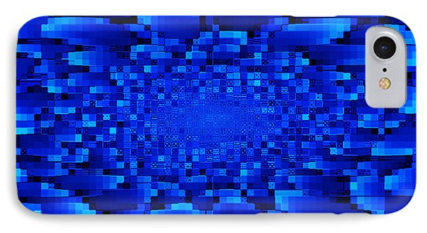 Blue Windows Abstract Phone Case by Carol Groenen