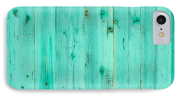 Blue Wooden Planks IPhone Case by John Williams
