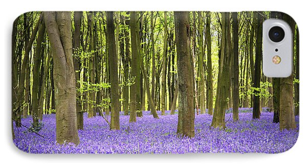 Bluebell Carpet Phone Case by Jane Rix