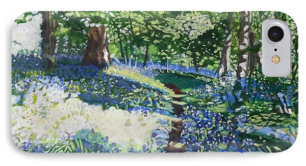 Bluebell Forest IPhone Case by Joanne Perkins