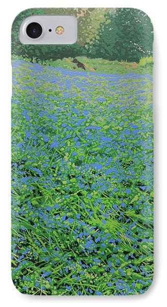 Bluebell Hill Phone Case by Malcolm Warrilow