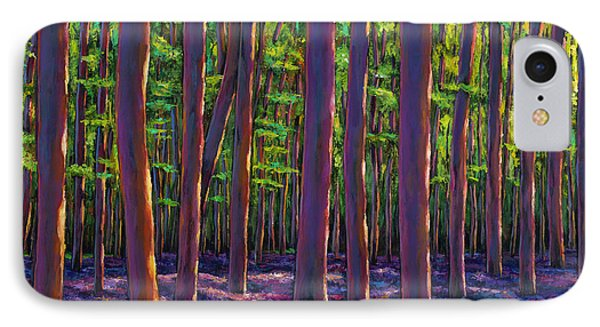Bluebells And Forest IPhone Case