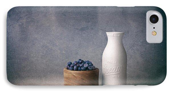 Blueberries And Cream IPhone 7 Case by Tom Mc Nemar