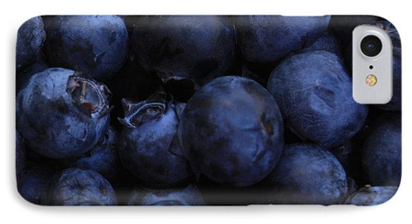 Blueberries Close-up - Horizontal Phone Case by Carol Groenen