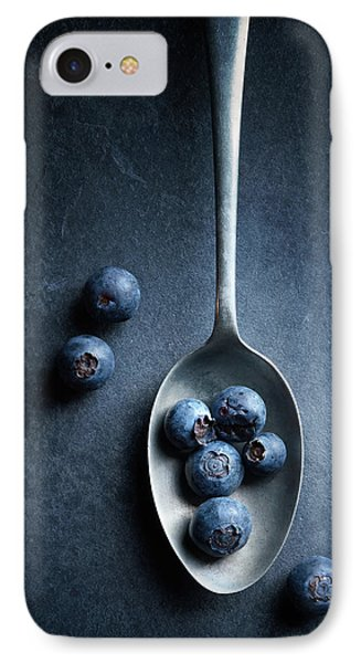 Blueberries On Spoon Still Life IPhone Case