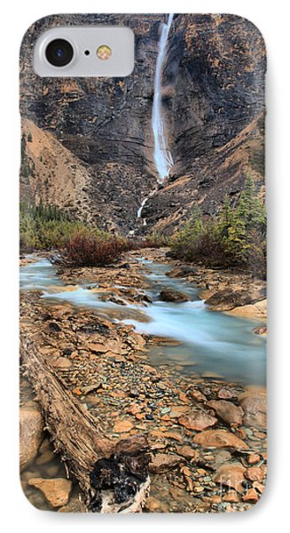IPhone Case featuring the photograph Blueberry Blue Waters Under Takakkaw Falls by Adam Jewell