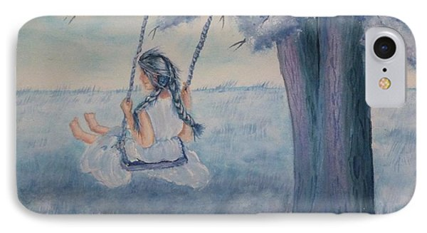 Blueberry Swing IPhone Case by Kelly Mills