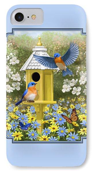 Bluebird Garden Home IPhone Case by Crista Forest