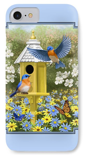 Bluebird Garden Home IPhone 7 Case by Crista Forest