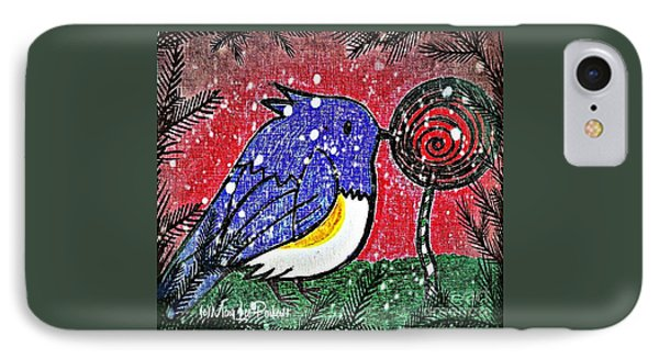 Bluebird Of The Season IPhone Case by MaryLee Parker