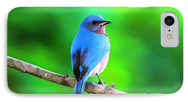 Bluebird On Summer Green IPhone Case by Dan Sproul
