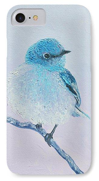 Bluebird Painting IPhone Case by Jan Matson