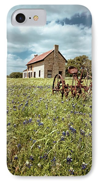 IPhone Case featuring the photograph Bluebonnet Fields by Linda Unger