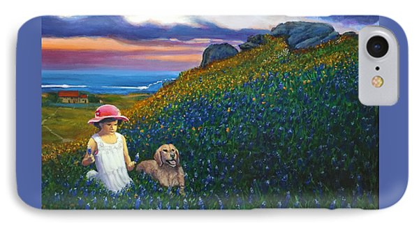 Bluebonnet Hill IPhone Case by Charles Wallis