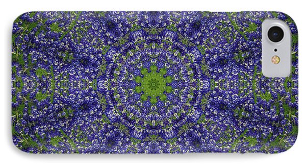 Bluebonnet Lace Kaleidoscope IPhone Case by Robyn Stacey