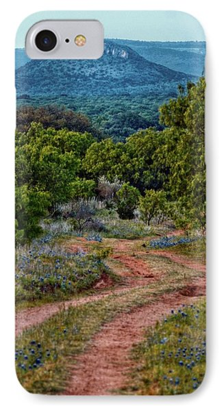 Bluebonnet Road IPhone Case