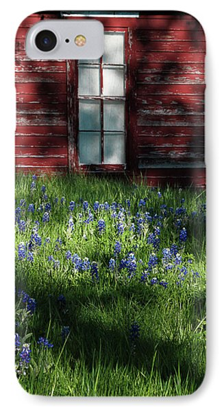 IPhone Case featuring the photograph Bluebonnets In The Shade by David and Carol Kelly
