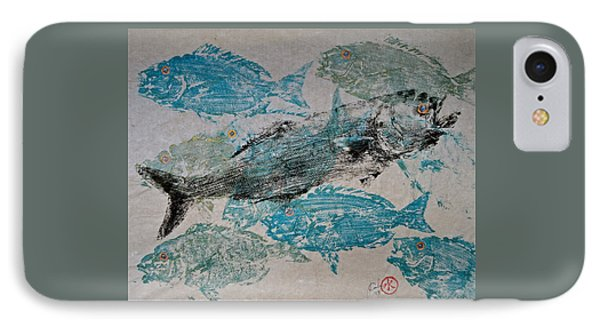 Bluefish Delight - Lunchtime  IPhone Case by Jeffrey Canha