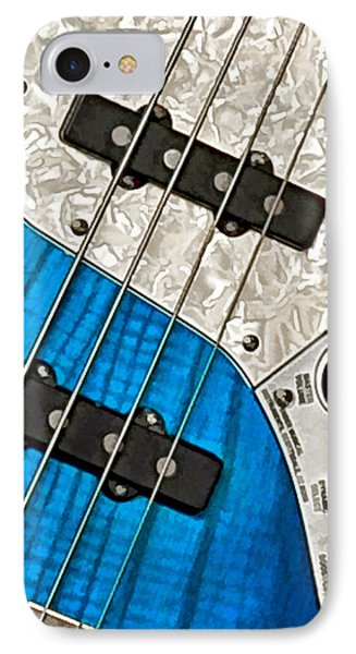 Blues Bass Phone Case by William Jobes