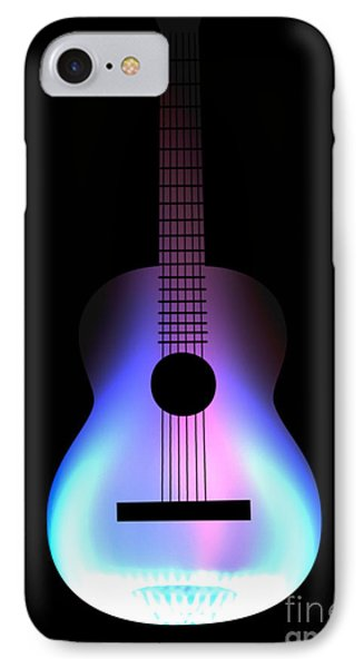 Blues Guitar On Fire Phone Case by Andy Smy