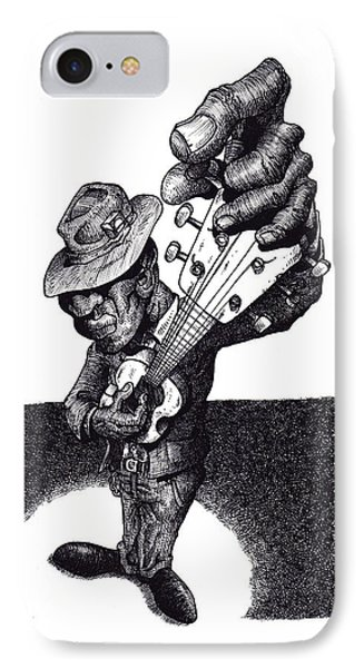 Blues Guitar Phone Case by Tobey Anderson