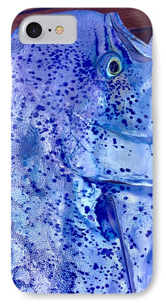 Blues Mahi IPhone Case by Carey Chen