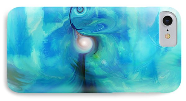 IPhone Case featuring the digital art Bluescape by Linda Sannuti