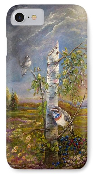 Bluethroat On The Tundra IPhone Case