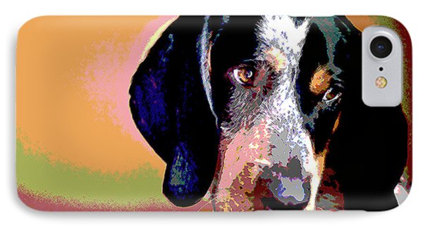 Bluetick Coonhound IPhone Case by Charles Shoup