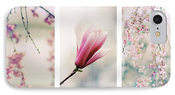 IPhone 7 Case featuring the photograph Blush Blossom Triptych by Jessica Jenney