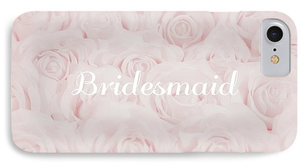 Blush Pink Bridesmaid IPhone Case by Lucid Mood