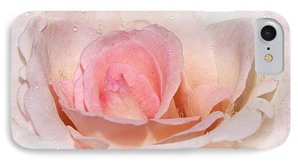 Blush Pink Dewy Rose IPhone Case