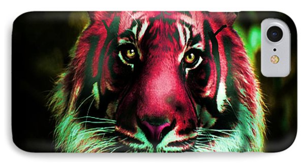 IPhone Case featuring the photograph Blushing Tiger by George Pedro