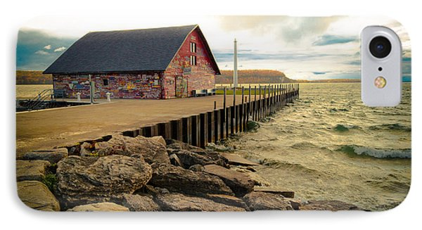 Blustery Day At Anderson Barn IPhone Case by Mark David Zahn