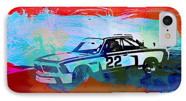Bmw 3.0 Csl Racing IPhone Case by Naxart Studio