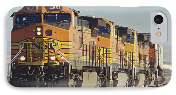 Bnsf Freight Train Phone Case by Richard R Hansen and Photo Researchers