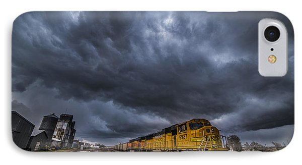 Bnsf Storm IPhone Case by Darren  White