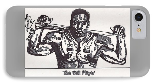 Bo Jackson The Ball Player IPhone Case by Jeremiah Colley