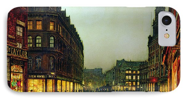 Boar Lane IPhone Case by John Atkinson Grimshaw